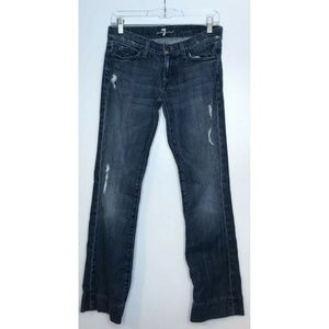 7 For All Mankind Ripped Bootcut Jeans Size 27